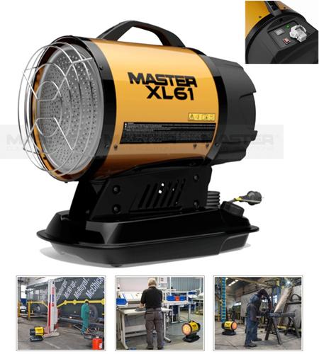 Calefactor radiante de infrarrojos por gasoleo Master xl61