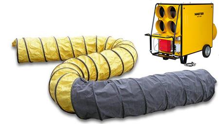 Conducto para el calor apto para el calefactor master BV690 VERSION 4 SALIDAS