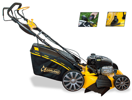 cortacesped gasolina garland grass 1265 zsbw-v16 con efecto mulching