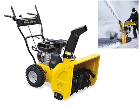 maquina quitanieves con ruedas neumaticas para limpiar el camino de nieve snow 556QG