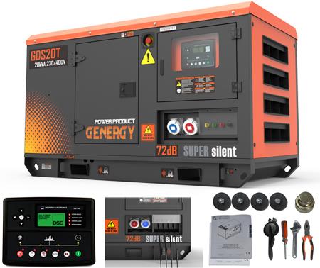 Generador diesel Genergy GDS20T de 20kva - 16.000W