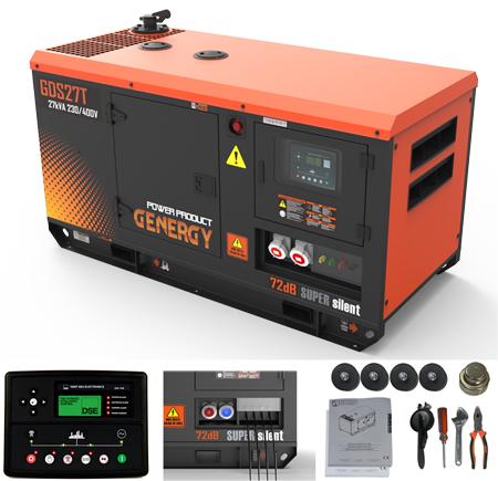 Generador diesel Genergy GDS27T de 27kva - 22000W