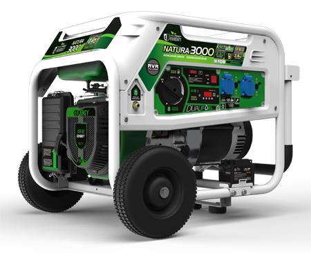 Generadors genergy con funcionamiento a gasolina o a gas propano respetuoso con el medio ambiente hasta 3000w de potencia Modelo Natura 3000