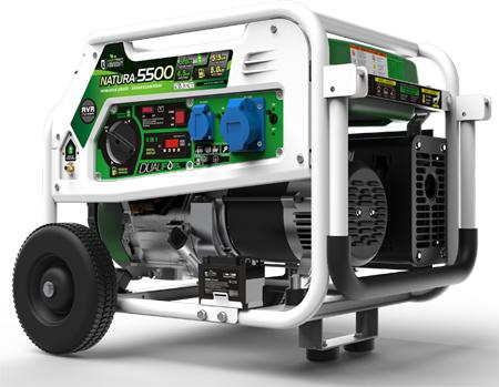 Generadors genergy con funcionamiento a gasolina o a gas propano respetuoso con el medio ambiente hasta 5000w de potencia Modelo Natura 5000