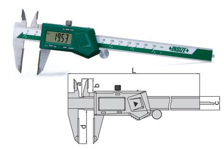 Pie de rey digital con puntas de metal duro marca Insize referencia 1110
