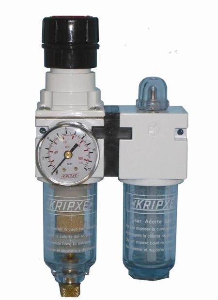 Regulador, Filtro y lubricador RLF-100 1/4  Kripxe