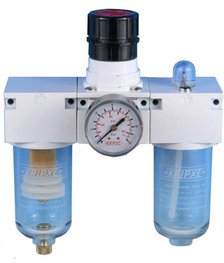 Regulador, Filtro y lubricador RLF-200 3/8  Kripxe