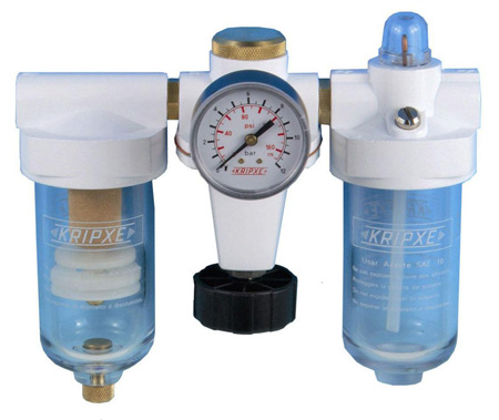 Regulador, Filtro y lubricador RLF-3/8  Kripxe