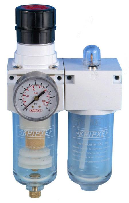 Regulador, Filtro y lubricador RLF-400 3/8  Kripxe