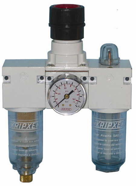 Regulador, Filtro y lubricador RLF-50 1/4  Kripxe