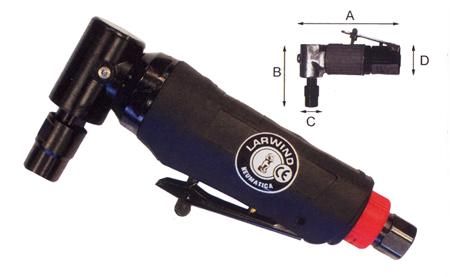 amoladora acodada neumatica LAR-315CZ de Larwind