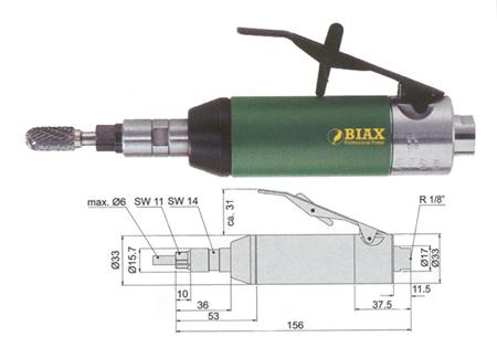 Amoladora neumatica recta Biax svkh630