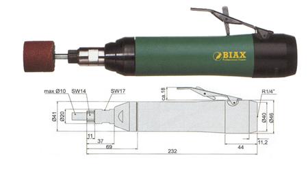 Amoladora neumatica profesional Biax srh 10-15/2 y srh 10-12/2