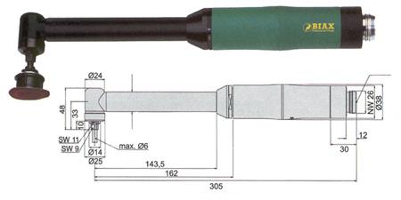 Amoladoras profesionales biax wrd 6-20/2 zl90 y wrh 6-20/2 zl90