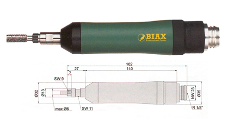 Amoladora neumatica profesional Biax srd 6-45/2