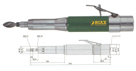 Amoladora neumatica Biax sbrh 818