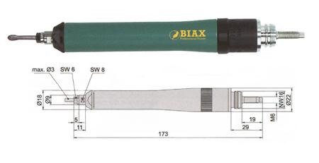 Amoladora profesiona neumatica de Biax srd 3-85/2