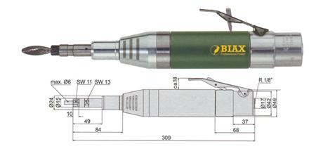 Amoladora neumatica recta svh 8-20/2 biax