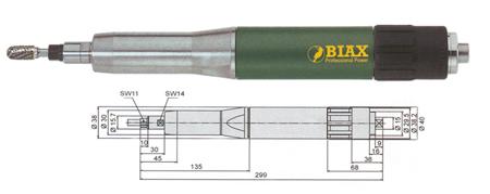 Amoladoras neumaticas profesionales Biax sbrd 820 y sbrh 820
