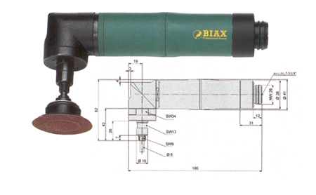 Amoladora neumatica biax angular wrd 6-20/3z y wrh 6-20/3z