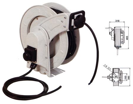 enrollador de manguera electrica Larwind