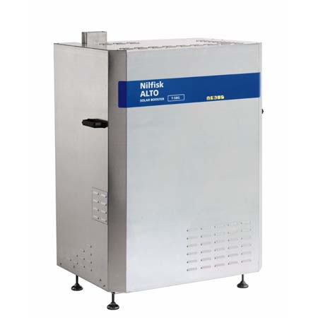 Hidrolimpiadora nilfisk estacionaria a gas natural de agua caliente solar booster 7-58g