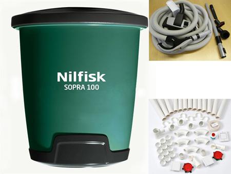 Aspiradora centralizada domestica nilfisk diy 100