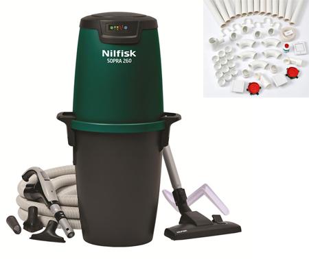 Aspirador centralizado domestico nilfisk diy 260 rrc