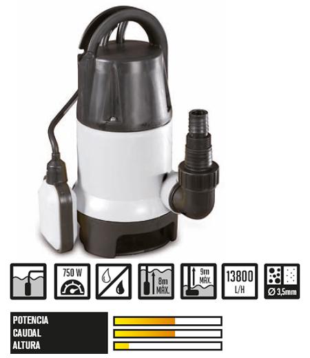 Motegi 144 Omega, bombas agua trasvase y riego sumergible y electrica