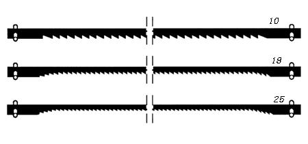 Hojas para sierra de proxxon de diferente dientes 28741-28743-28745