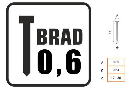 BRAD CON CABEZA 0.6 DE DIAMETRO