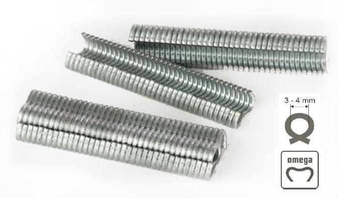Grapas para tenazas de vallar 16mm inox clavex 7604