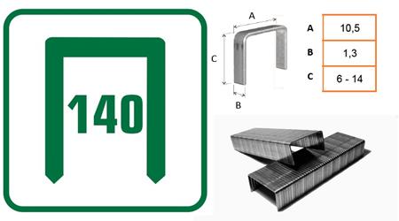 grapas en acero tipo 140 para grapadoras manuales