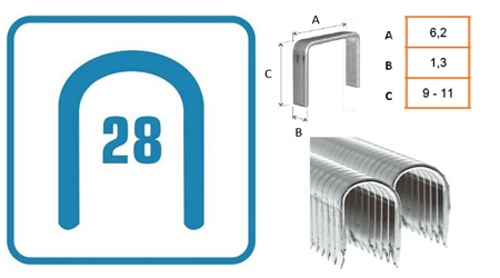 Grapas para cables tipo 28