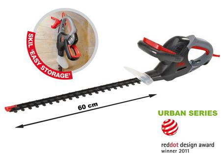 cortasetos electrico con cuchilla extralarga de 60 cm.