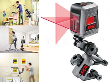 Nivel laser en cruz vertical, horizontal  o en angulo de Skil para bricolaje ll0511