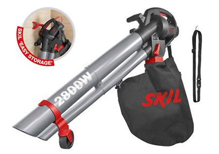 Soplador aspirador y triturador de hojas para limpieza de jardin, con funcionamiento electrico de la marca skil 0791aa