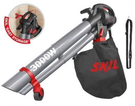 Soplador aspirador y triturador de hojas para limpieza de jardin, con funcionamiento electrico y regulacion de potencia de la marca skil 0791aa