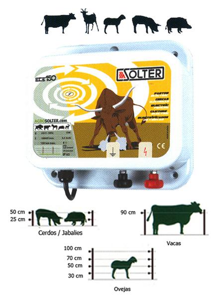 Electrificador valla animales solter ece-150 ref. 10016
