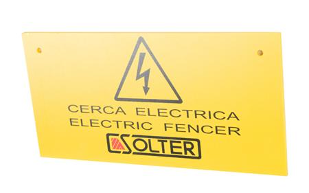 Señal de identificacion cerca electrica solter ref. 11056