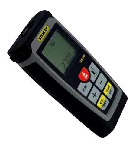 medidor laser de distancias reales de stanley.
