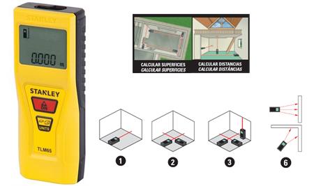 metro digital por laser de Stanley tlm 65,