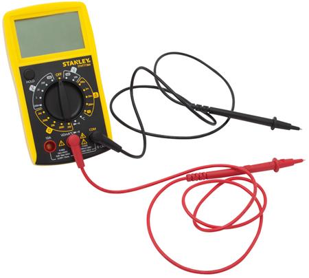 Multimetro para comprobaci�n de bater�as
