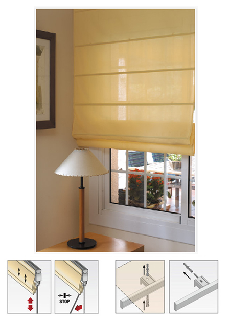 estor y cortina amarilla para tu ventana