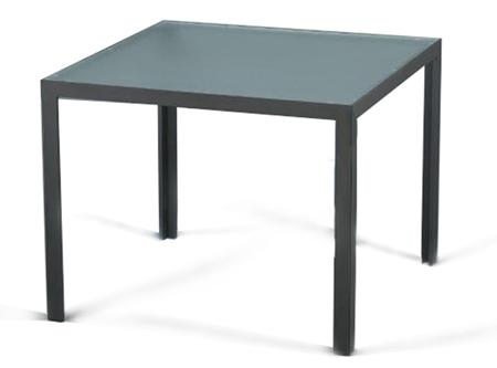 mesa de cristal para exteriores combinable