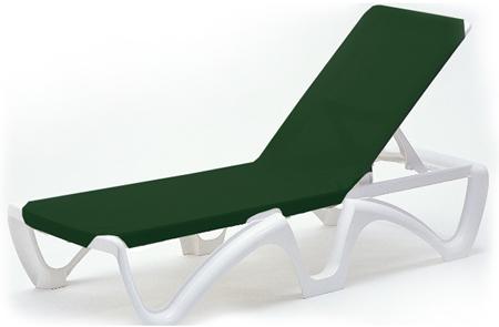 Tumbona resina y lona color verde para piscina odysee