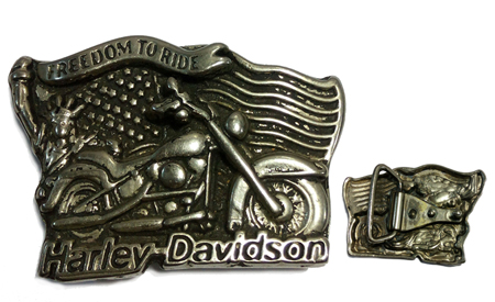 hebilla para cinturon de Harley davidson freedom to ride