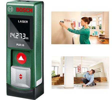Medidor laser de distancias bosch plr 15 0.603.672.001