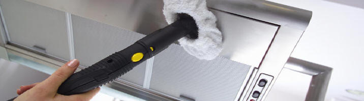 Limpieza Karcher con vapor para limpiar la cocina.