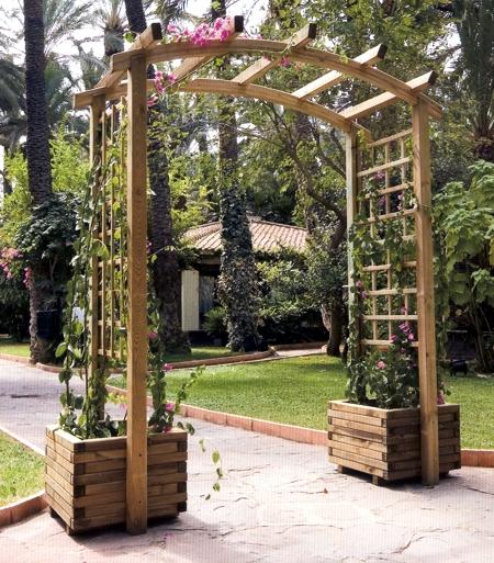 El reino plantae celos a for Arco decorativo jardin